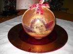 centrotavola -pallina di Natale con decoupage