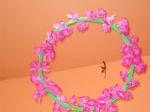 addobbo aula con fiori e cerchio