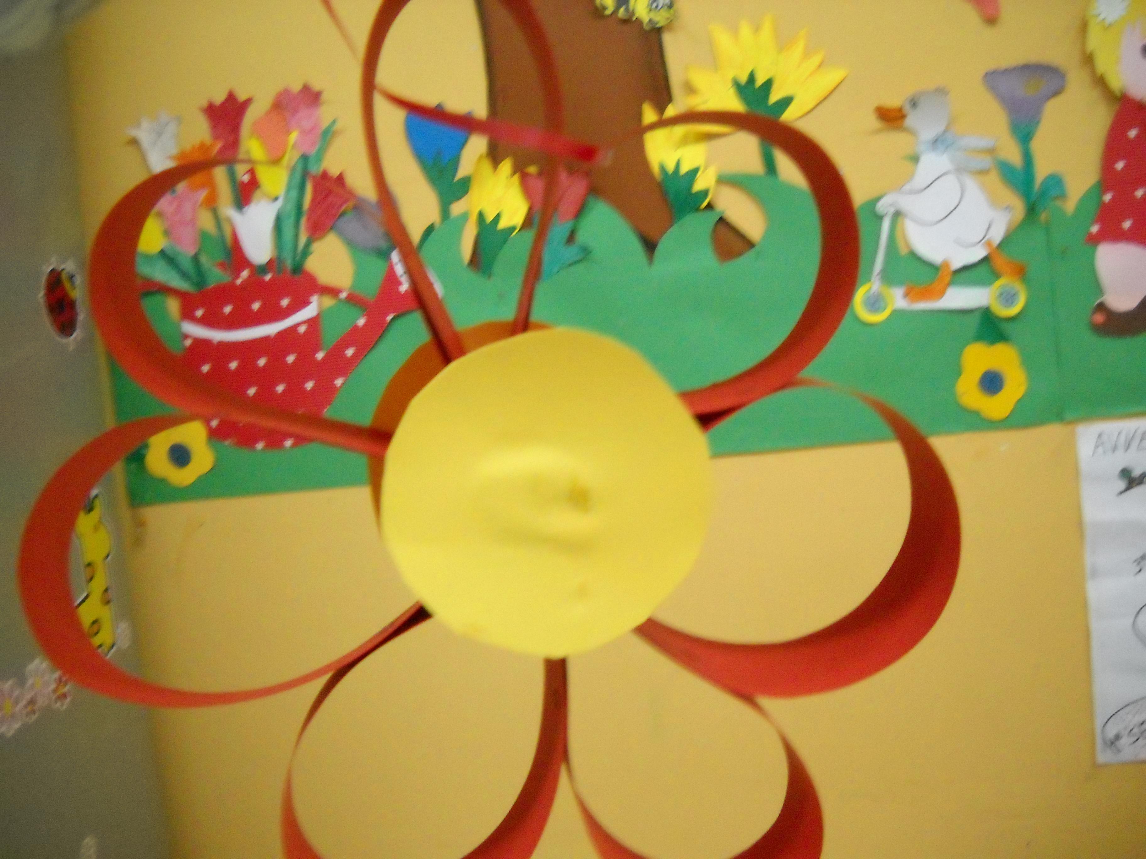 Fiore da appendere filastrocche canti poesie per l for Addobbi finestre scuola infanzia primavera