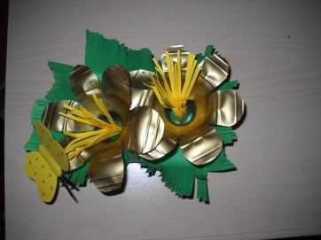 fiori con collo di bottiglia:ricicliamo