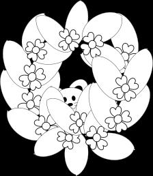 Ghirlanda di fiori con topini