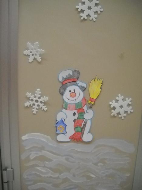 Addobbi per porta invernali 005