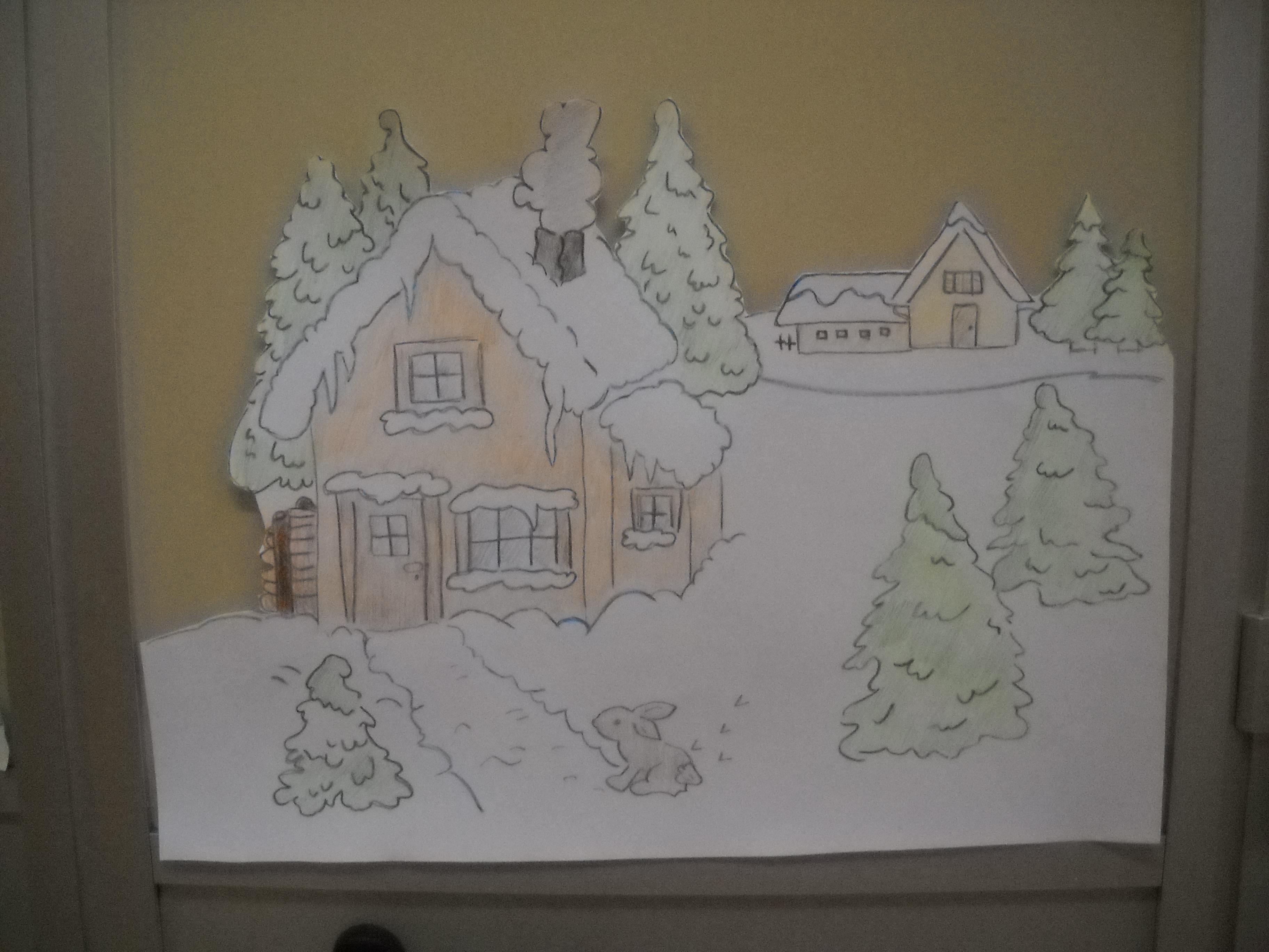 Lavoretti e addobbi per l inverno maestramaria - Addobbi natalizi per finestre scuola infanzia ...