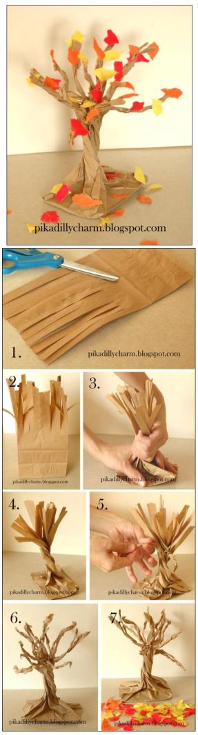 Make a Paper Bag Fall Tree