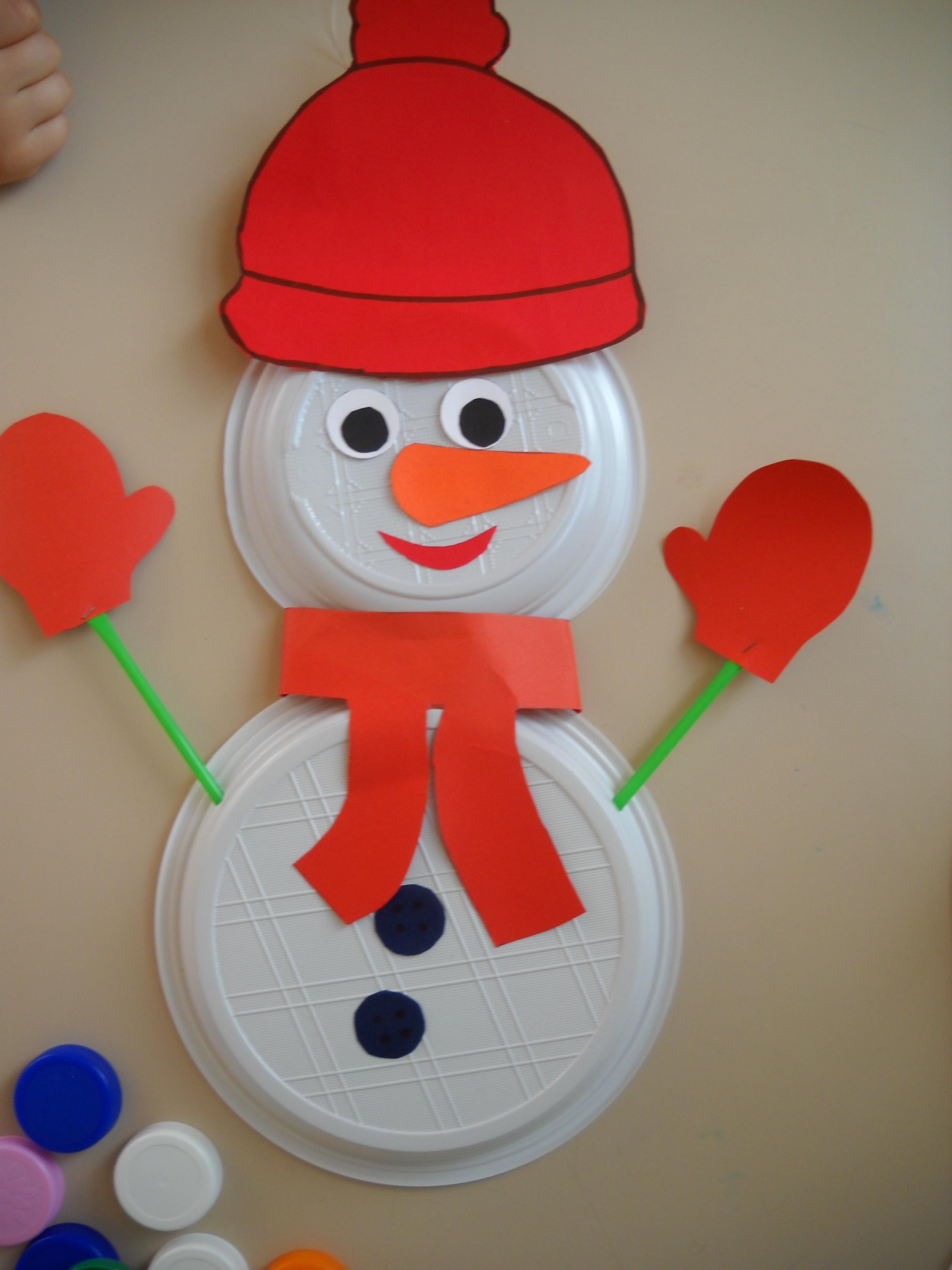 Addobbi invernali per aule pupazzi di neve maestramaria for Addobbi di natale per bambini scuola infanzia