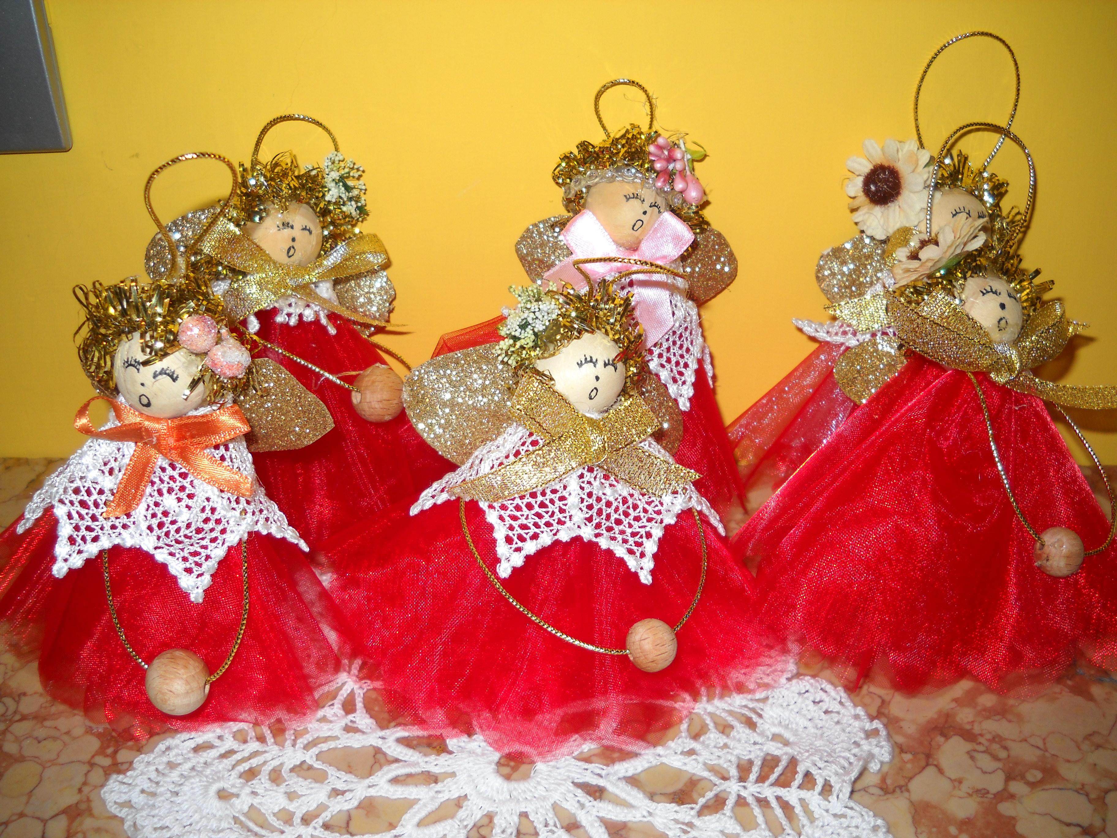 Angeli Lavoretti Di Natale.Tutorial Per Angioletti Con Il Tulle Maestramaria