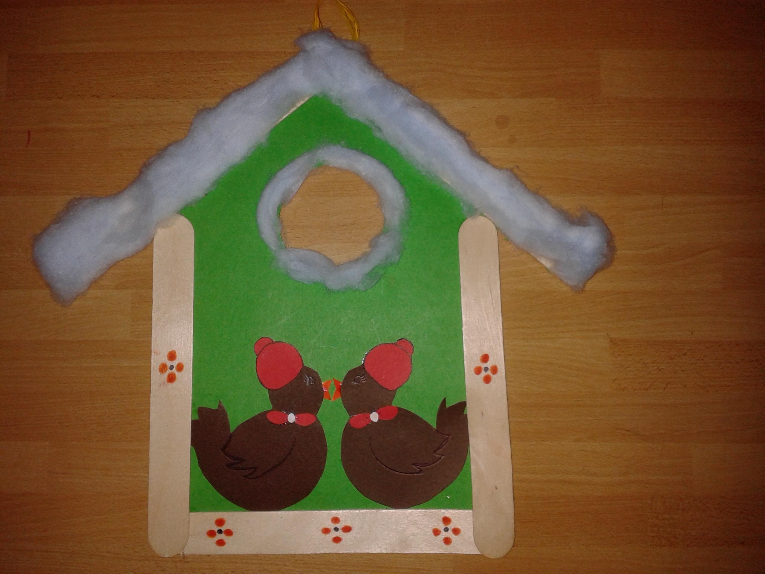 Lavoretti per l inverno casette per uccellini maestramaria for Lavoretti per scuola infanzia