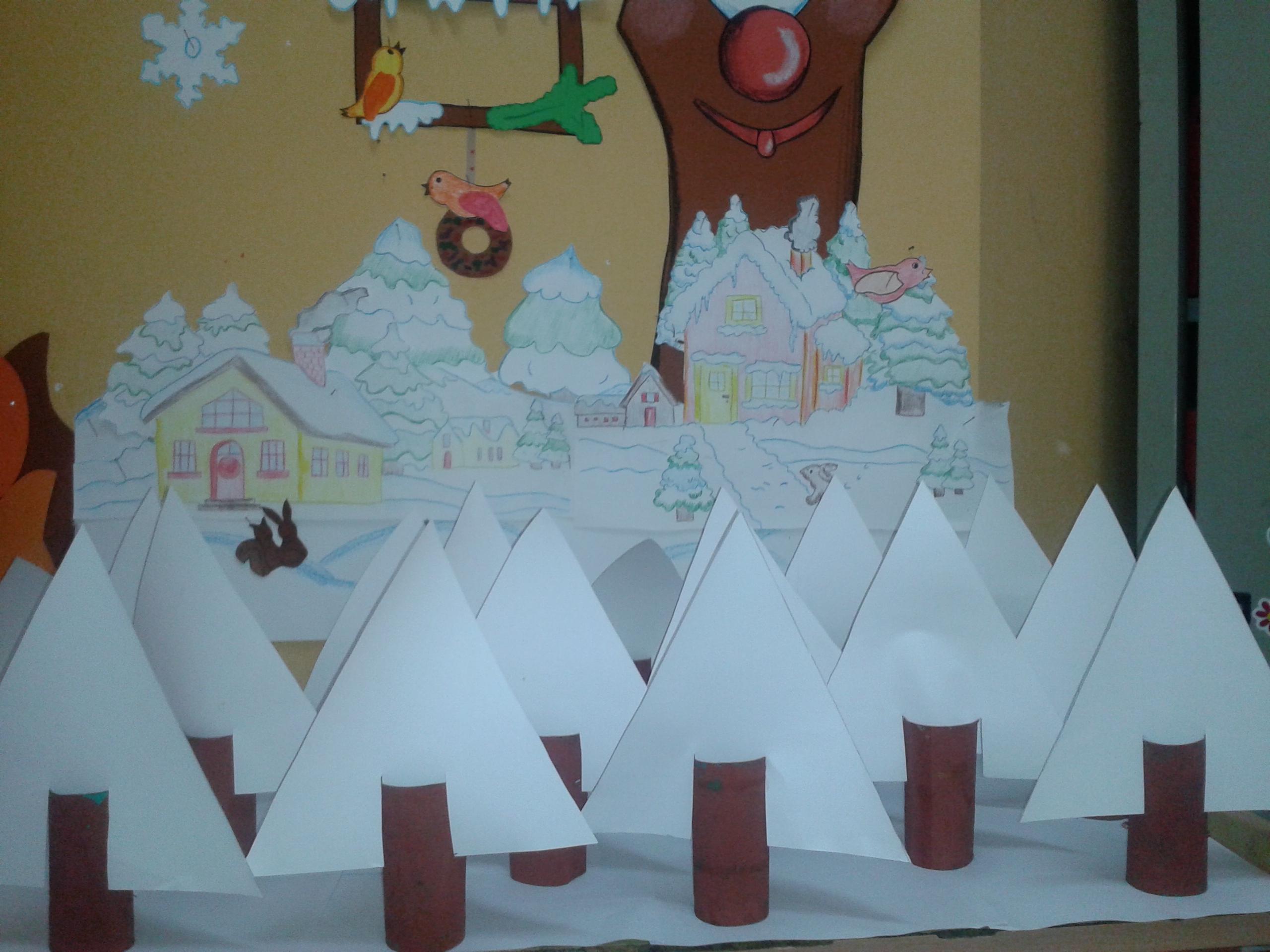 Adesso ci prepariamo per l inverno addobbi per aule e for Addobbi di natale per bambini scuola infanzia