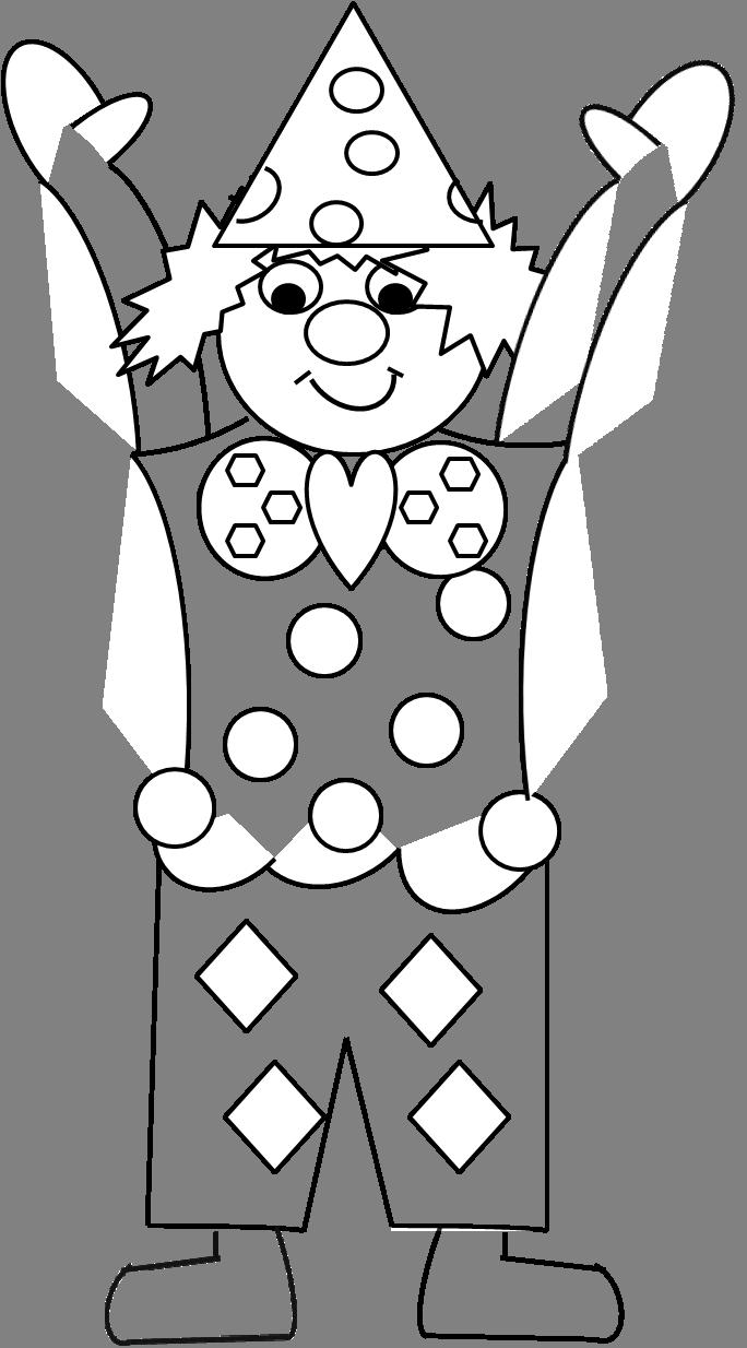 Clown maestramaria for Pagliaccio da colorare