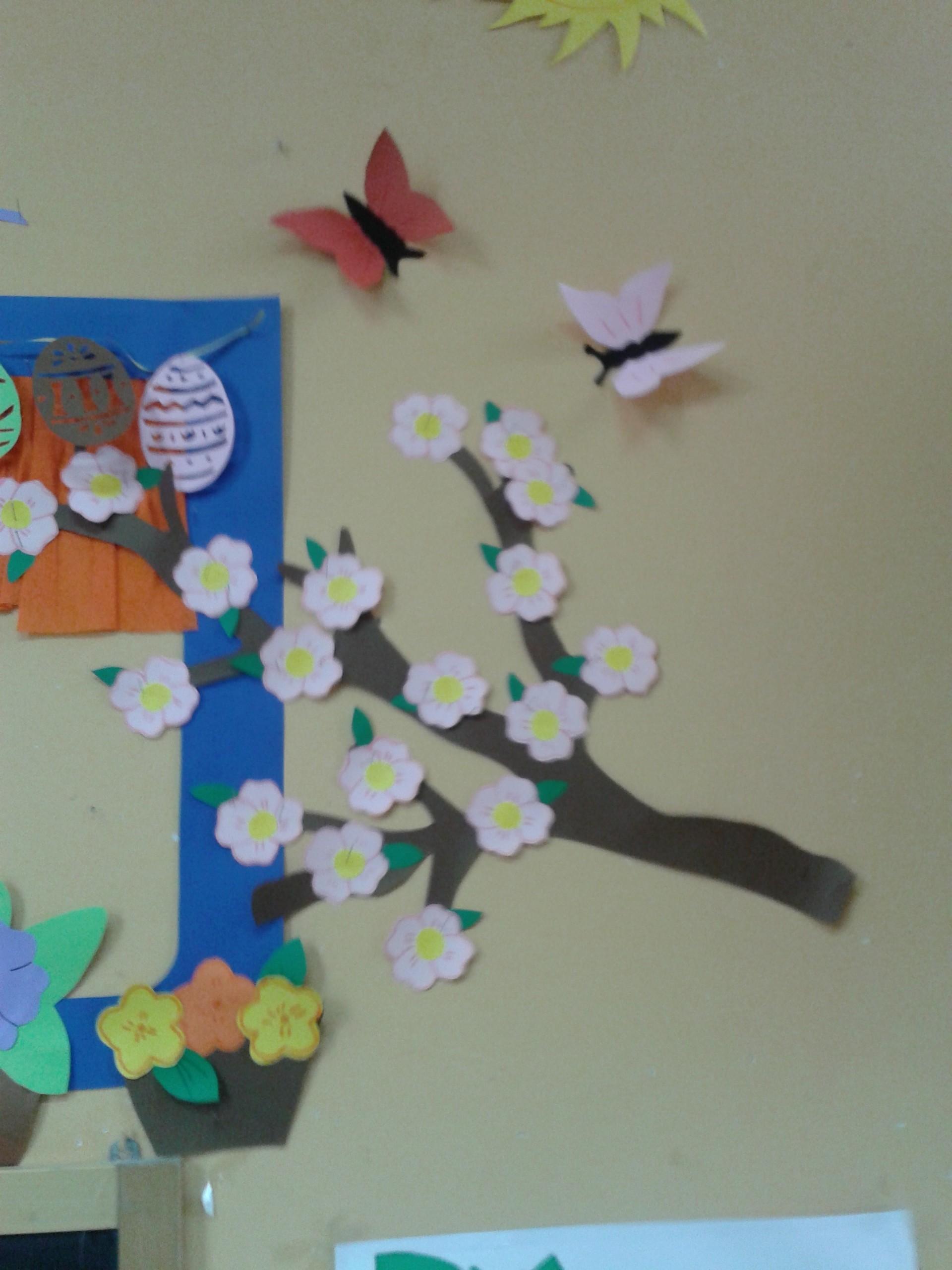 Addobbi di primavera maestramaria for Addobbi di natale per bambini scuola infanzia