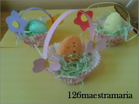 Cestini portauova di pasqua maestramaria for Porta uova