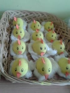 pulcini con le uova