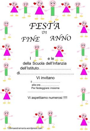 Invito festa di fine anno. colorato jpg