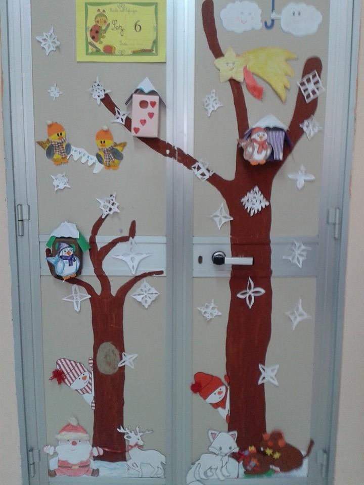 Addobbi invernali e natalizi maestramaria - Decorazioni natalizie per porte e finestre ...