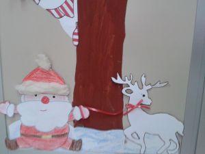 renna e babbo Natale