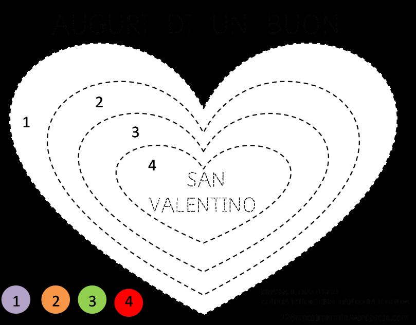 San Valentino Scheda Da Colorare Decorazione Aula E Biglietti