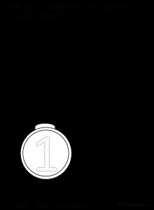medaglia da colorare