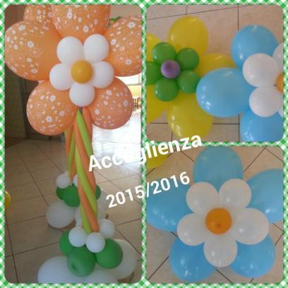 palloncini a fiori