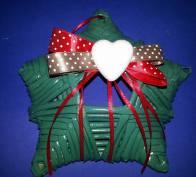 Stellina di Natale con cannucce di carta