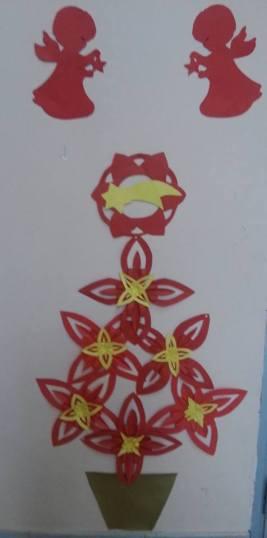 albero con stelle riciclate