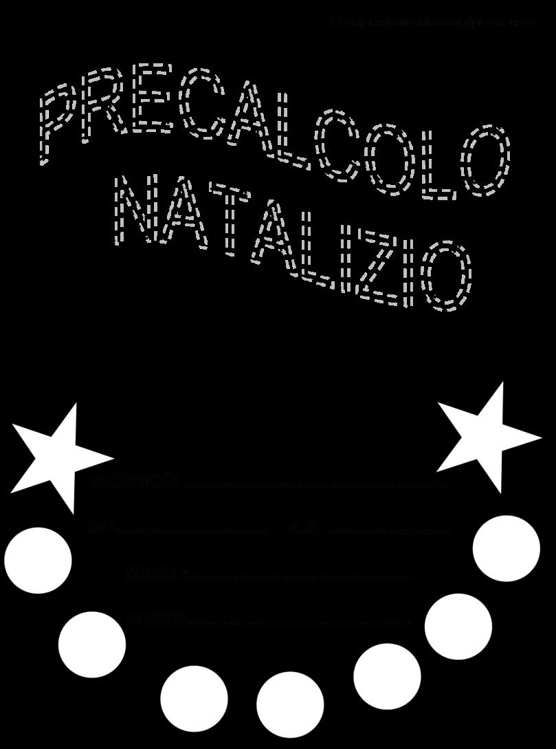 Precalcolo natalizio maestramaria for Schede didattiche scuola dell infanzia da stampare natale