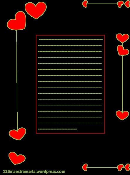 Biglietto di San Valentino colorato
