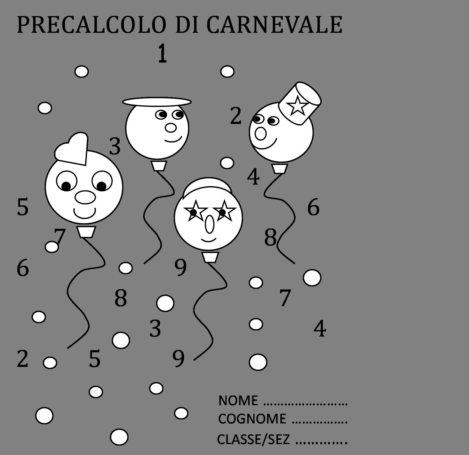 Famoso Precalcolo di Carnevale | Maestramaria ZG81