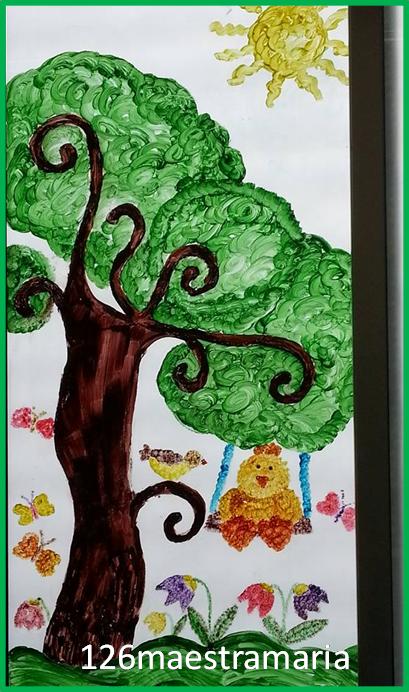 Primavera addobbi per aula maestramaria - Decorazioni natalizie per porte e finestre ...