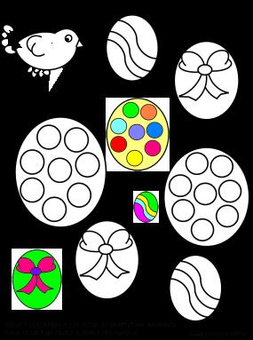 Uccellino che colorale uova