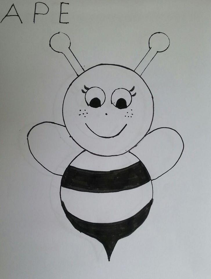 Ape da colorare maestramaria for Immagini api per bambini