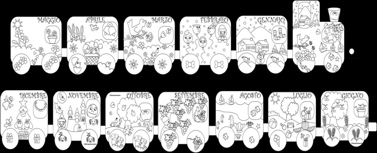 I mesi dell anno maestramaria - Immagini del treno per colorare ...