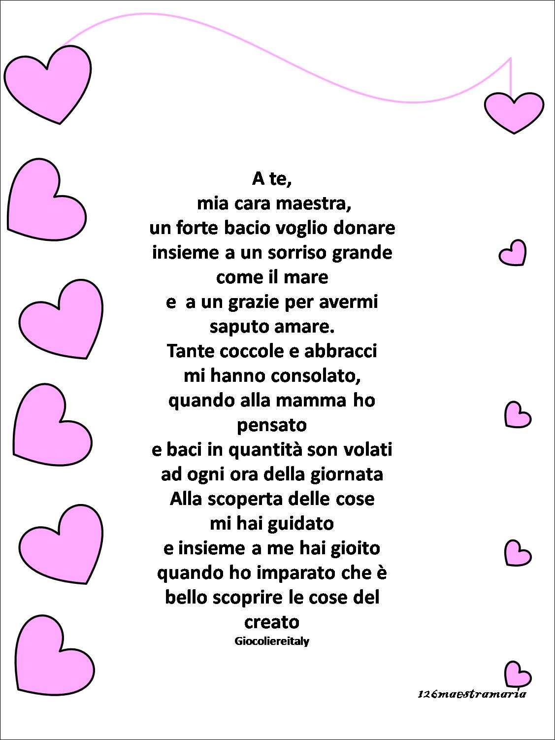 Poesie Per Le Maestre Maestramaria