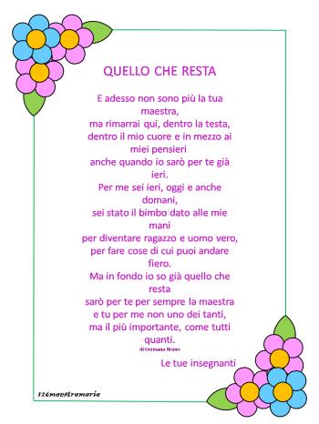 Poesie Di Ringraziamento Per Le Maestre Maestramaria