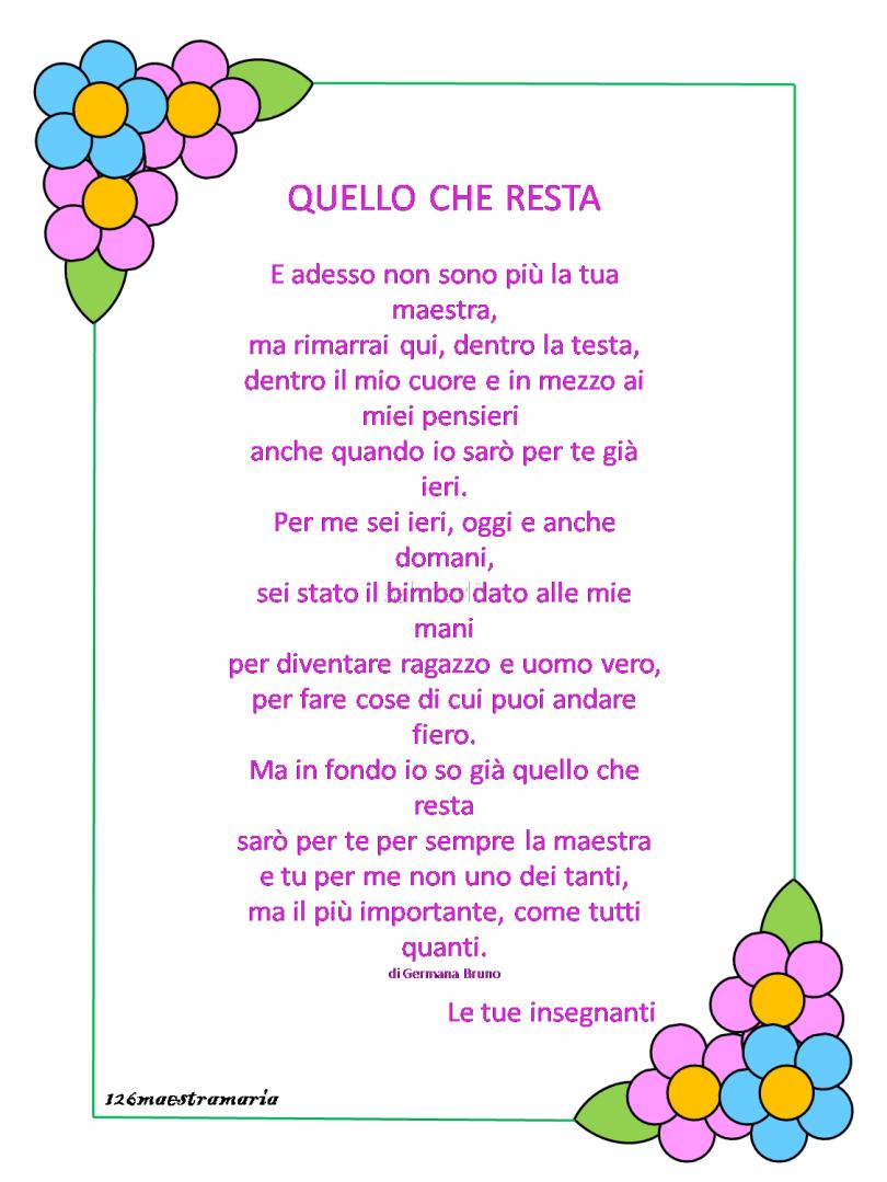 Poesie Per La Maestra Maestramaria