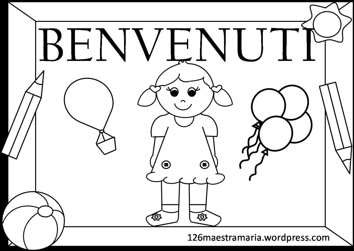 Cartello e scritta per l inizio del nuovo anno scolastico - Porta da colorare ...