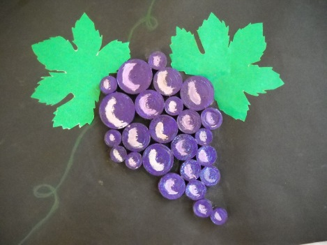 frutto autunnale con stelle filanti