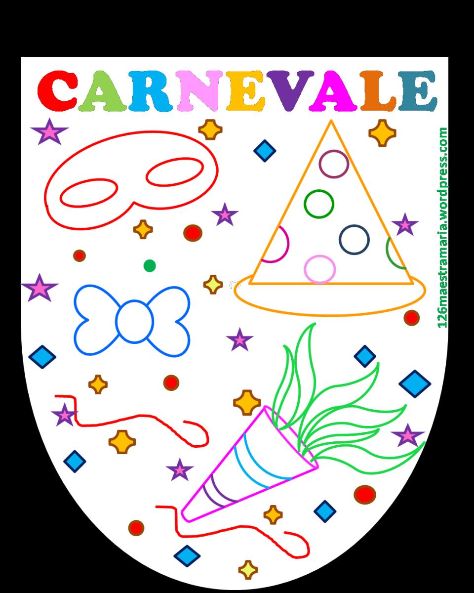 Carnevale disegni e bandierine maestramaria for Disegni da colorare e stampare carnevale