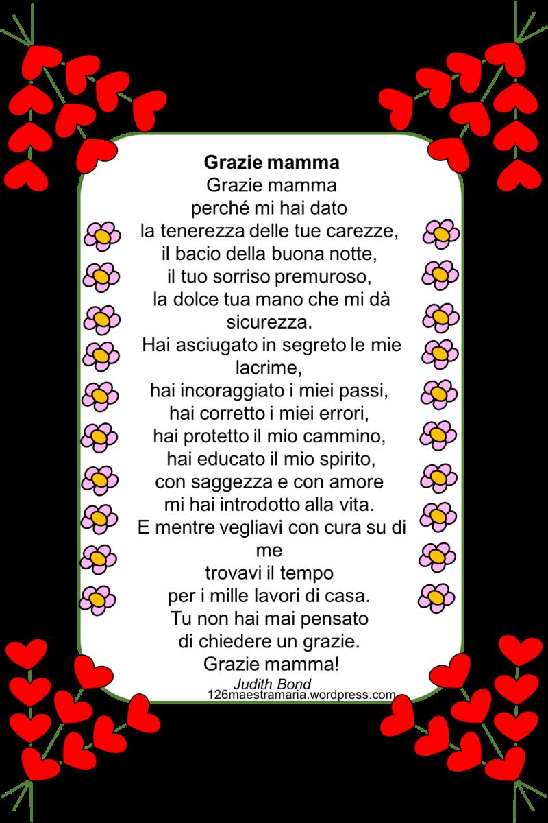 Festa della mamma poesie biglietti e disegni maestramaria for Disegni per la festa della mamma bellissimi