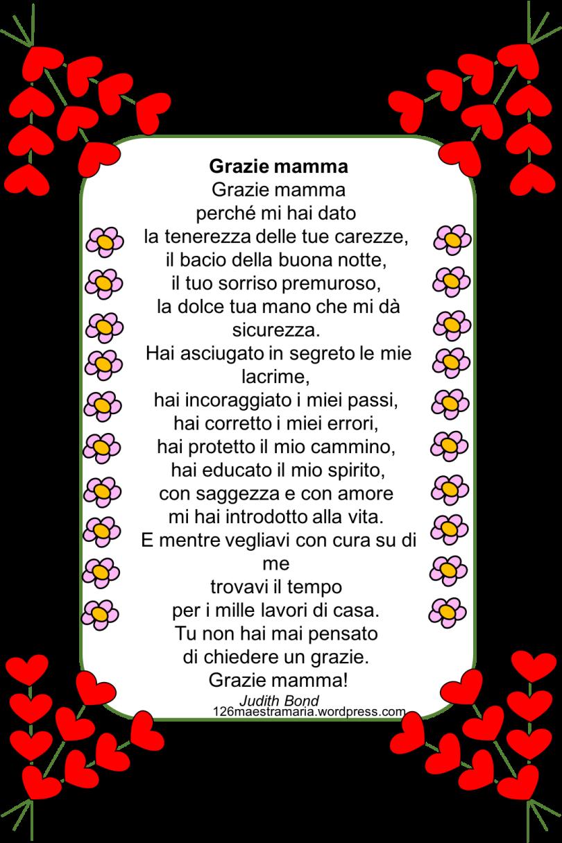 Festa Della Mammapoesiebiglietti E Disegni Maestramaria