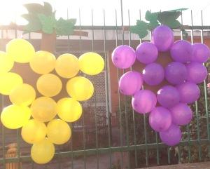 Lavoretto:uva con palloni