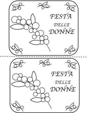 Festa Delle Donnebigliettidisegni E Lavoretto Maestramaria
