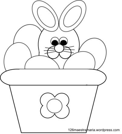 disegno del coniglio con le uova