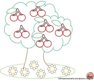 albero con ciliegine