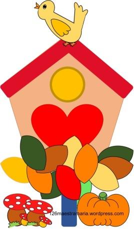 autunno colorato casetta